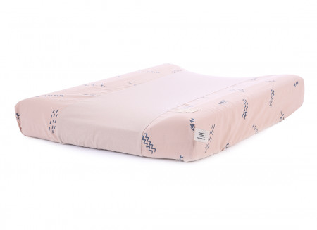 Cambiador impermeable Calma & funda 70X50 blue secrets/ misty pink
