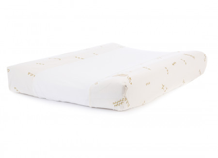 Cambiador impermeable Calma & funda 70X50 gold secrets/ white