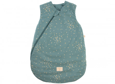 Saco de dormir de entretiempo Cocoon gold confetti/ magic green - 2 tallas
