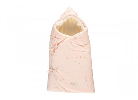 Saco capazo de invierno Cozy 0-3M gold stella/ dream pink