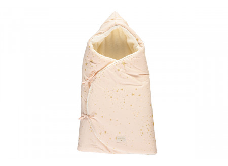 Cozy winter baby nest bag 0-3 M gold stella/ dream pink