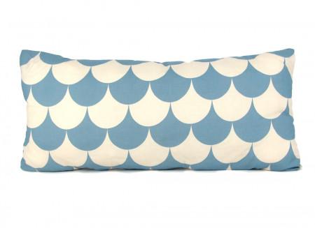 Cojin Averell 52x24 escamas azules