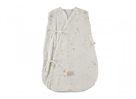 Saco de dormir de verano Dreamy  0-6M gold stella/ white