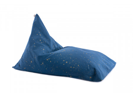 Puf Essaouira gold stella/ night blue
