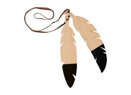 Guirnalda de plumas duo 85cm black