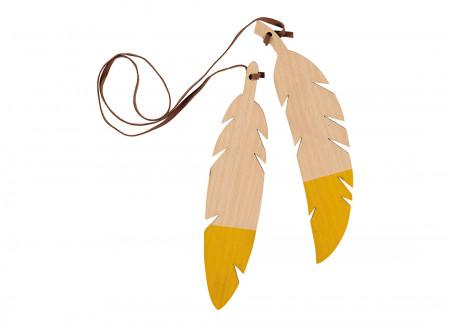Guirnalda de plumas duo 85cm yellow
