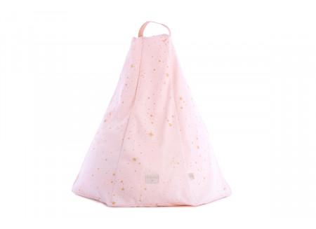 Puf Marrakech gold stella/ dream pink