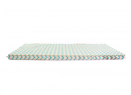 Colchoneta de suelo Saint Tropez 120x60x4 zig zag verde