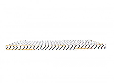 Colchoneta de suelo Saint Tropez 120x60x4 zig zag negro