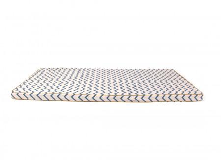 Colchoneta de suelo Saint Tropez 120x60x4 zig zag azul