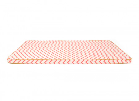 Colchoneta de suelo Saint Tropez 120x60x4 zig zag rosa