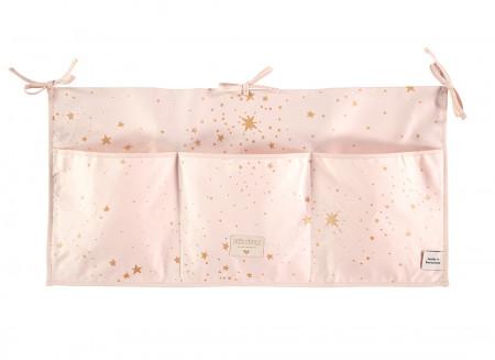 Organizador de cuna Merlin 30x60 gold stella/ dream pink