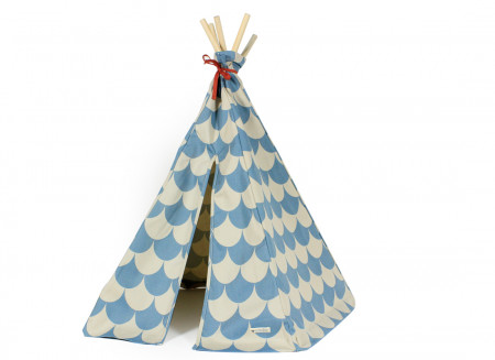 Mini tipi Arizona 66x67 escamas azules