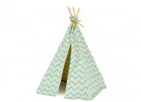 Mini tipi Arizona 66x67 zig zag verde