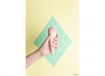 Bilboquet 17x5cm rosa