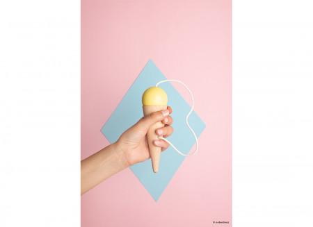 Bilboquet 17x5cm amarillo