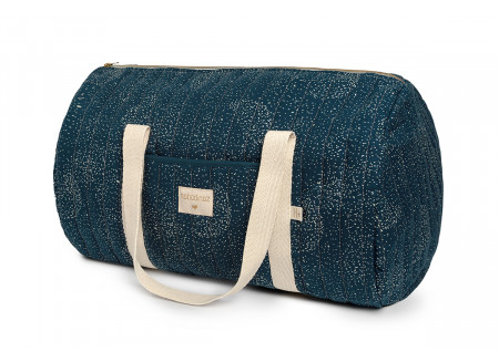 Bolsa weekend New York 30x45x30 gold bubble/ night blue