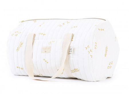 Bolsa weekend New York 30x45x30 gold secrets/ white