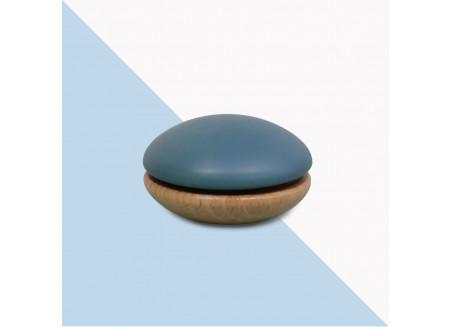 Yoyo de madera 6x6x4cm azul