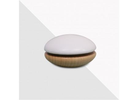 Yoyo de madera 6x6x4cm blanco