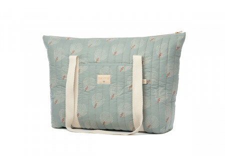 Bolsa de maternidad Paris white gatsby antique green