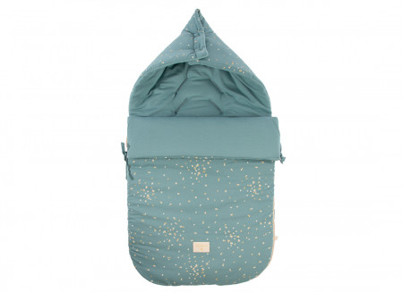 Saco de paseo de invierno Passegiata 0-6M gold confetti/ magic green