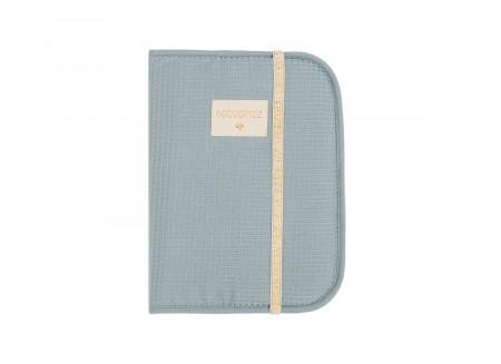 Funda libro de salud A5 Poema • nido de abeja stone blue