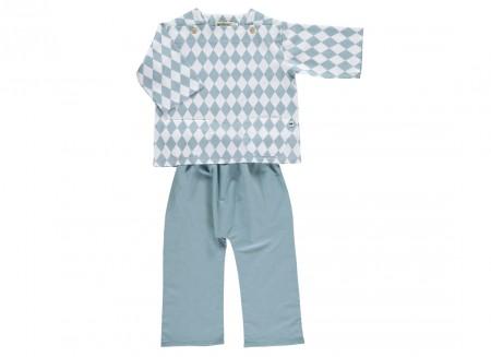 rombos azules shanghai pyjama