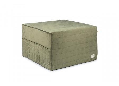 Puf cama plegable Sleepover • velvet olive green