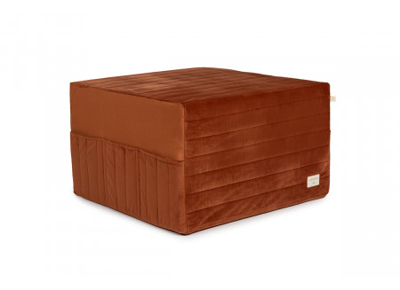 Puf cama plegable Sleepover • velvet wild brown