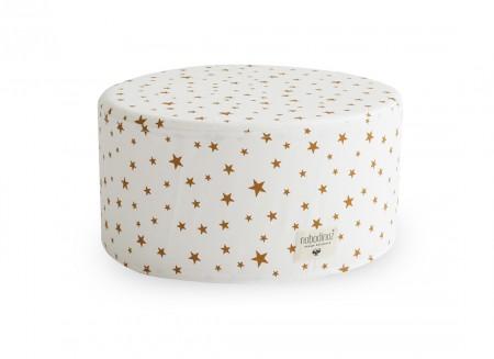 Puf Little Soho 36x36x18 estrellas mostaza