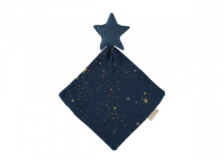 Doudou Star 30x30 gold stella/ night blue