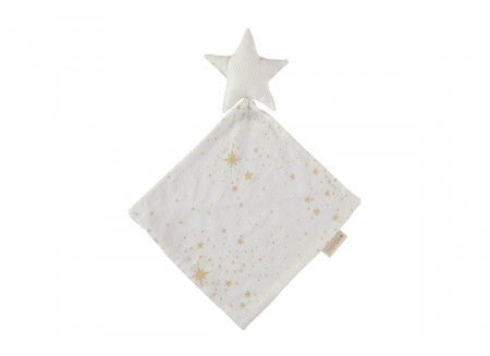 Doudou Star 30x30 gold stella/ white