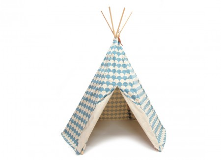 Tipi Arizona 158x128 escamas azules