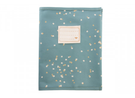 Funda de cuaderno A5 Too Cool gold confetti/ magic green