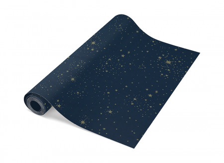 Papel pintado 52x1005 gold stella/ night blue