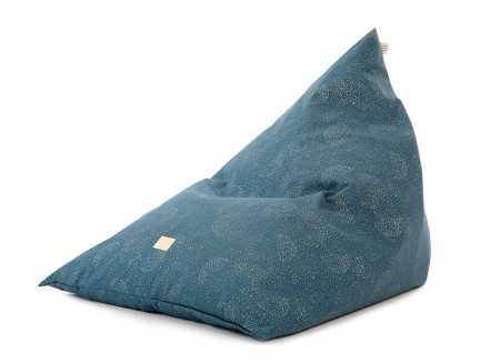 Puf Zen 62x95x75 gold bubble/ night blue