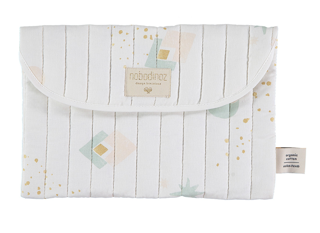 Estuche Bagatelle 19x27 aqua eclipse/ white