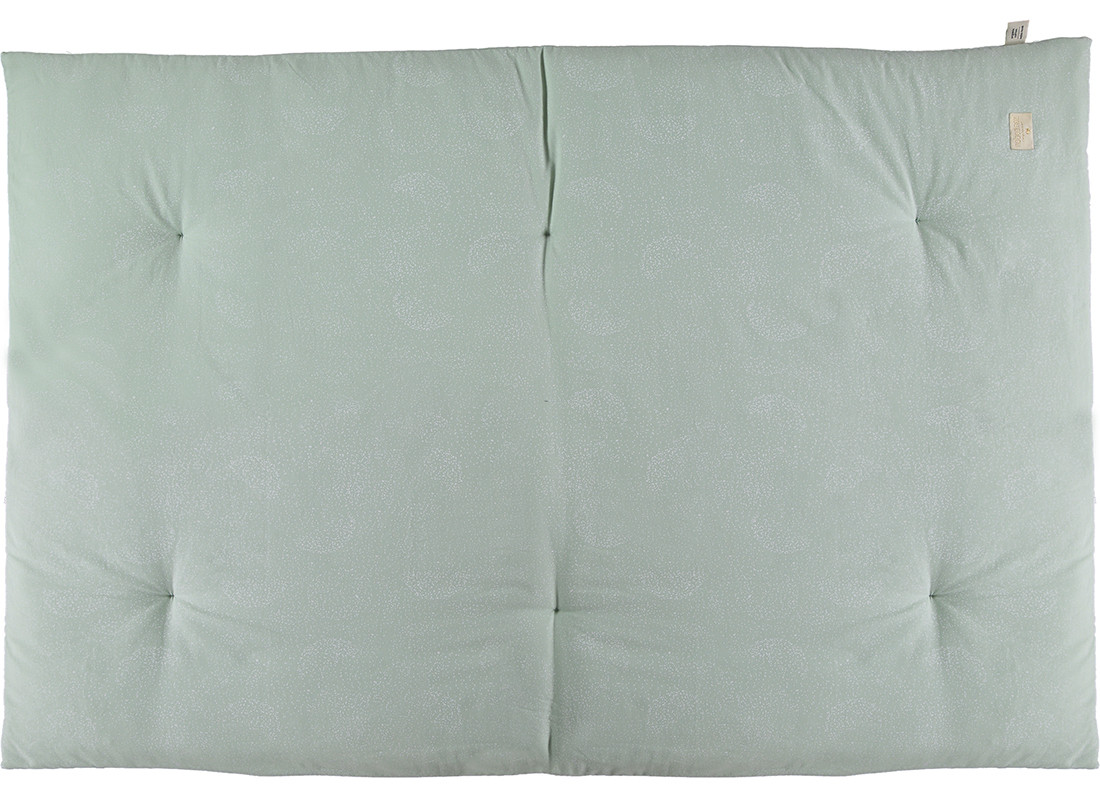 Futon Eden 148x100x6 white bubble/ aqua