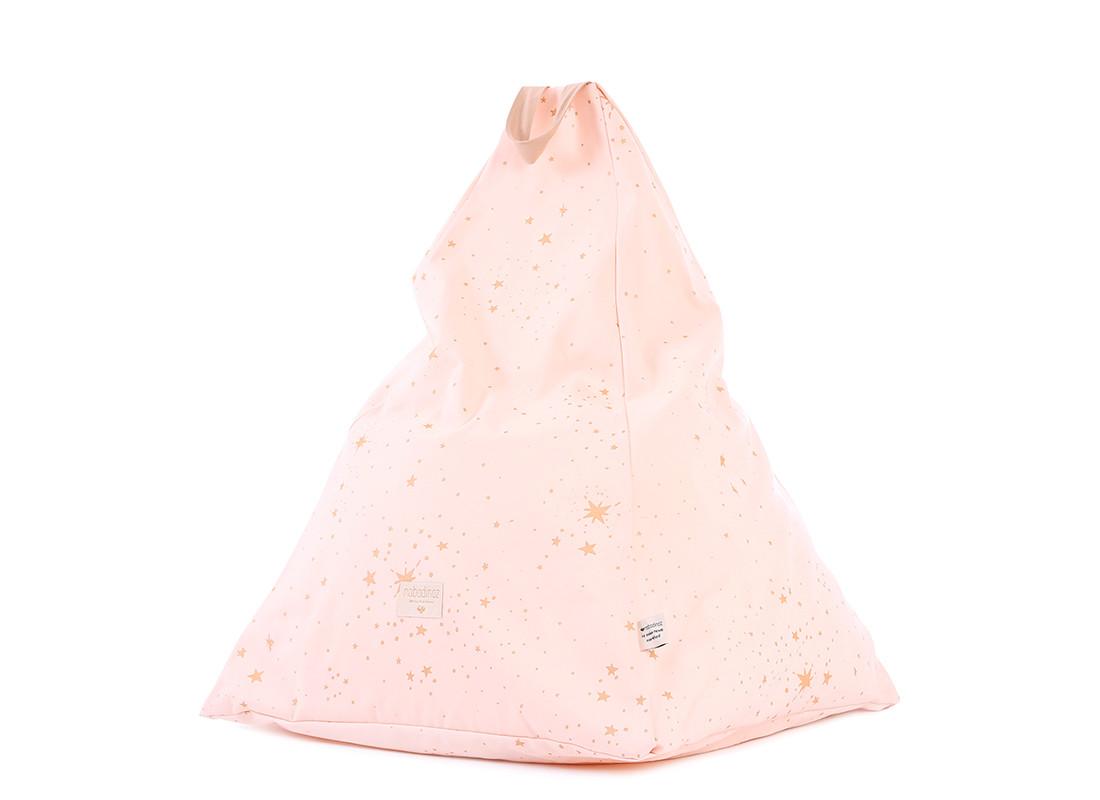 Puf Keops 65x50x50 gold stella/ dream pink
