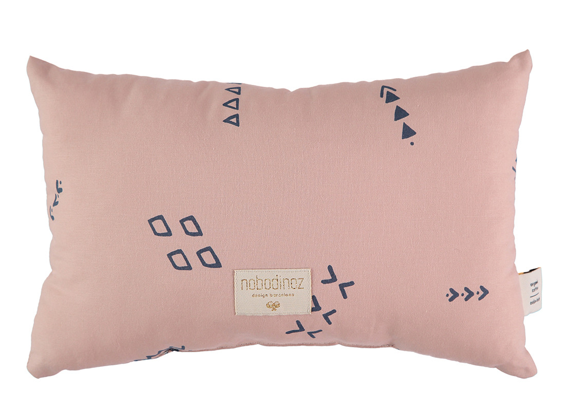 Cojin Laurel 22x35 blue secrets/ misty pink