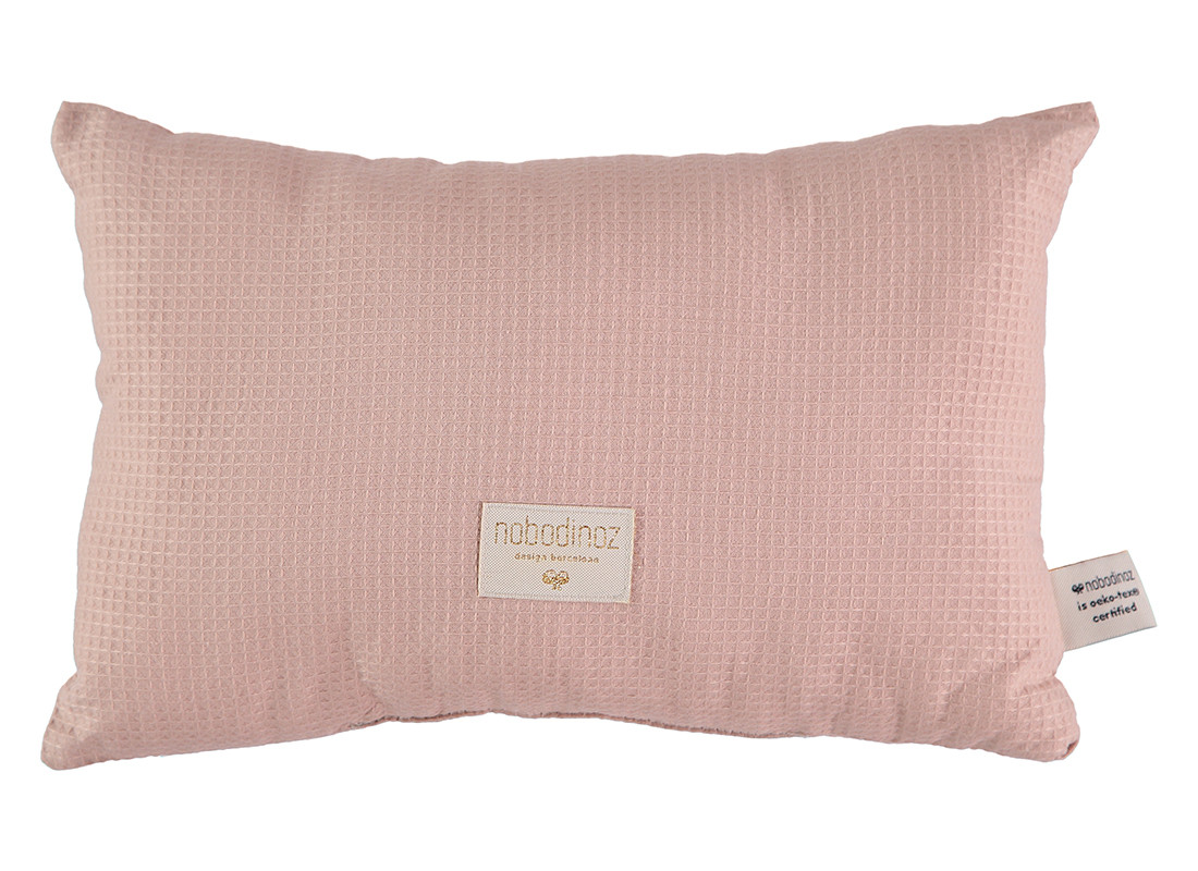 Cojin Laurel nido de abeja 22x35 misty pink
