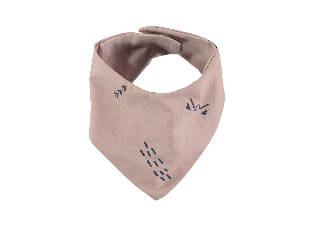 Babero bandana Lucky 16x43 blue secrets/ misty pink