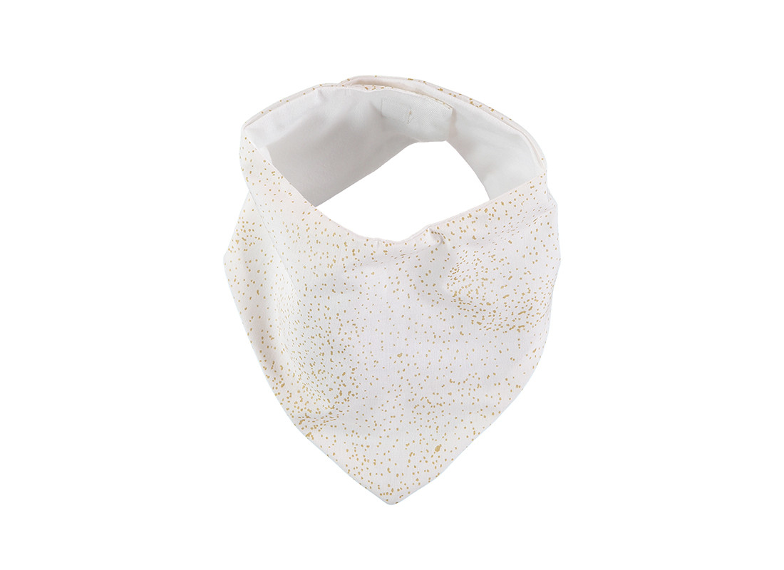 Babero bandana Lucky 16x43 gold bubble/ white