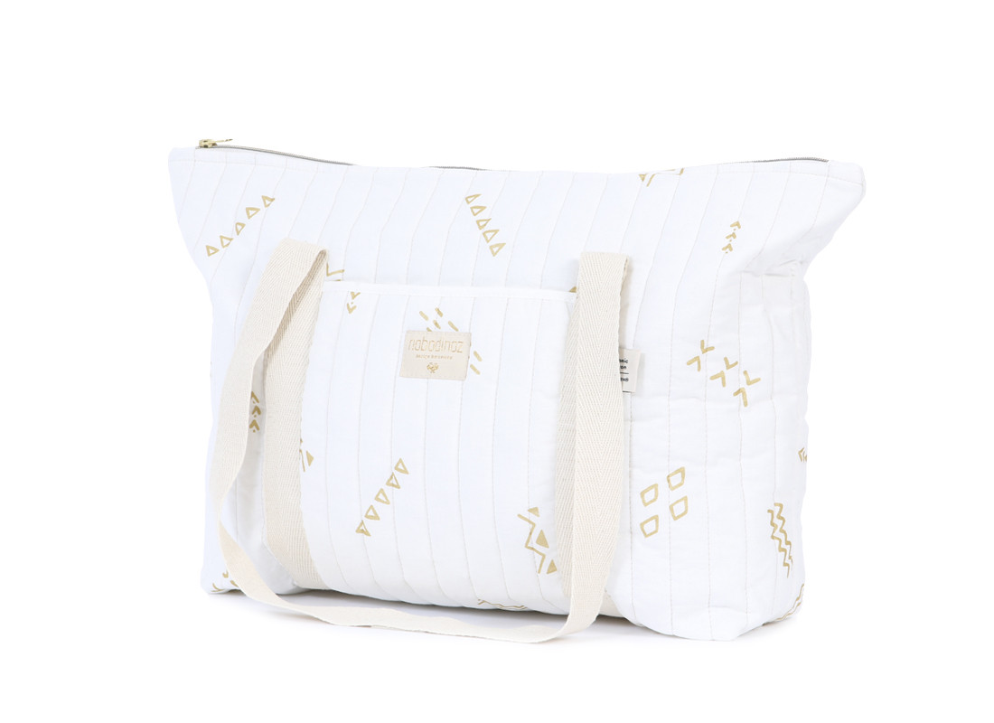 Bolsa de maternidad Paris 34x50x12 gold secrets/ white