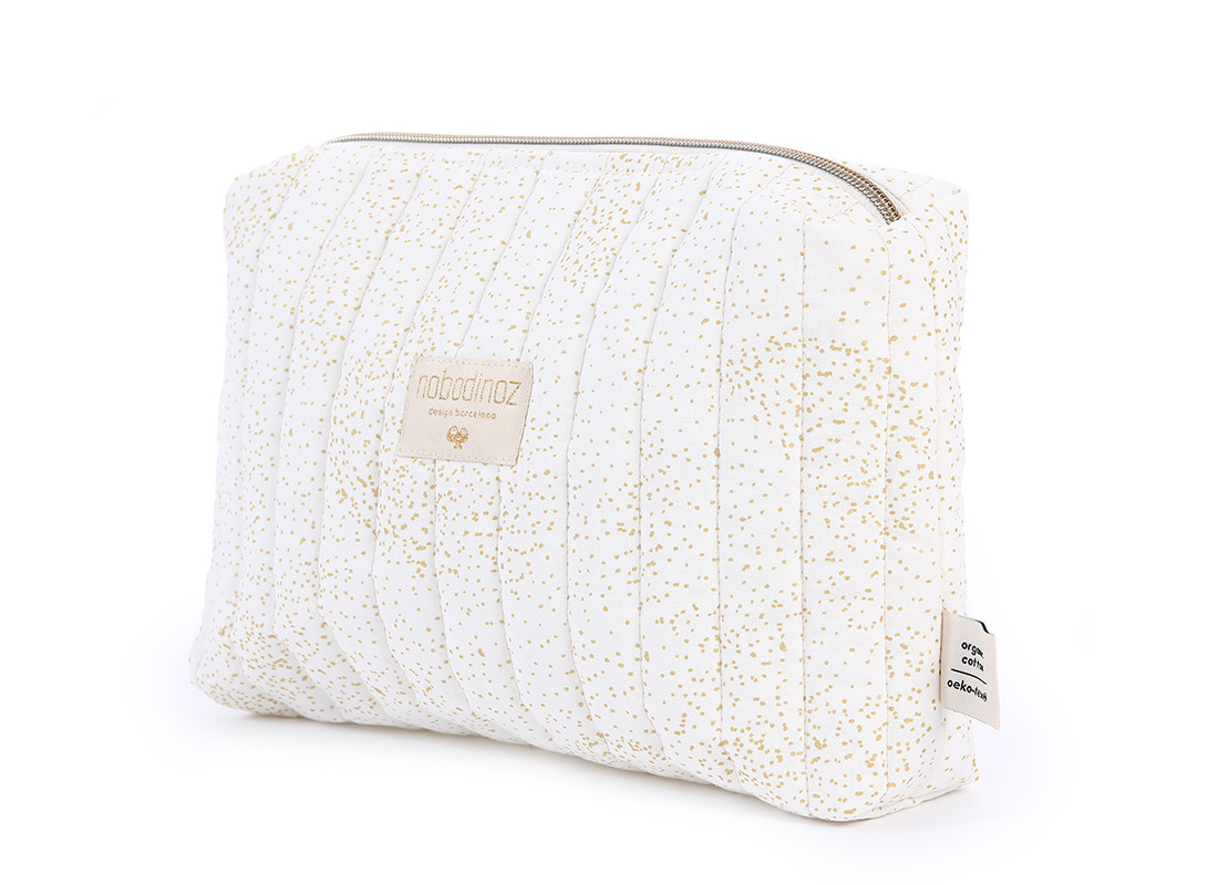 Neceser Travel 18x25x7 gold bubble/ white