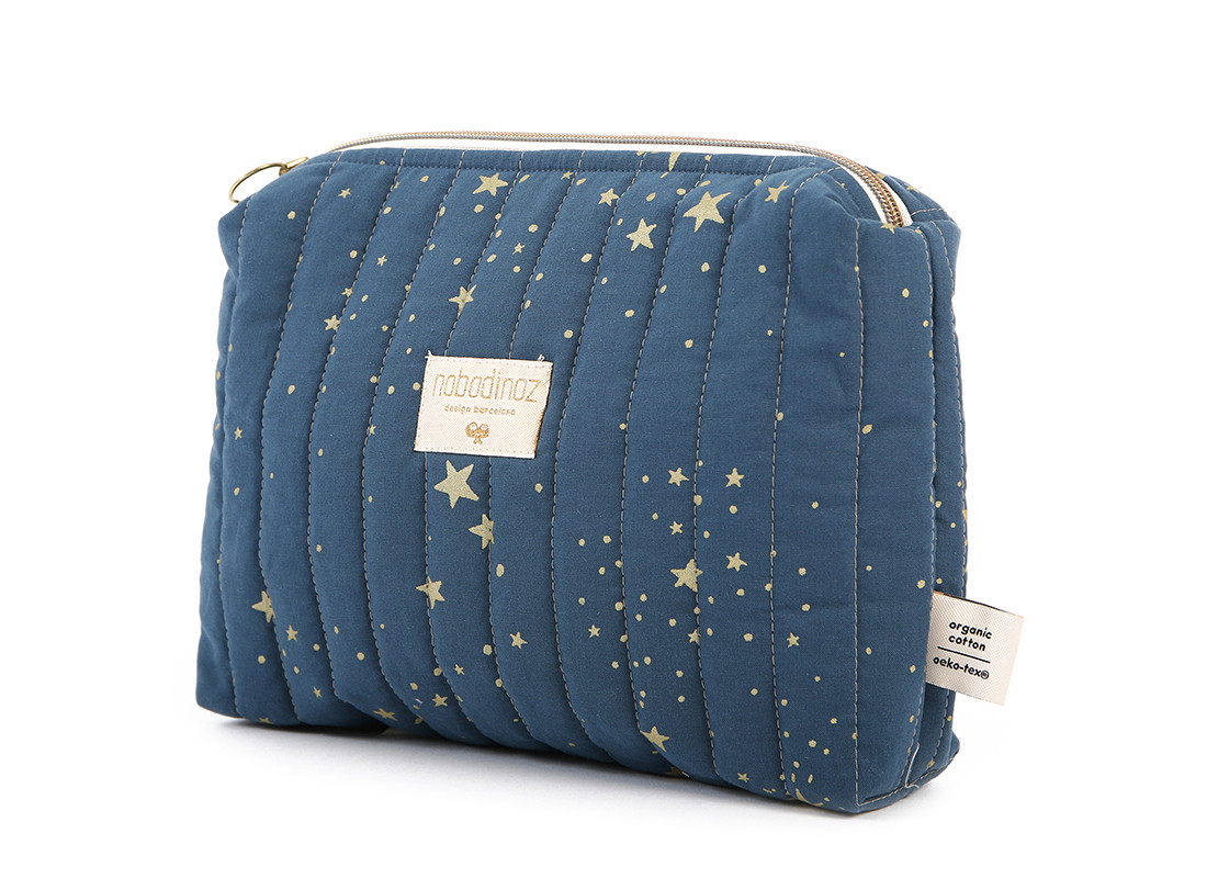 Neceser Travel 18x25x7 gold stella/ night blue