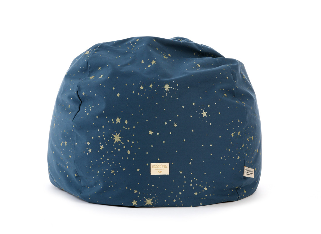 Puf Balloon 44x60x60 gold stella/ night blue