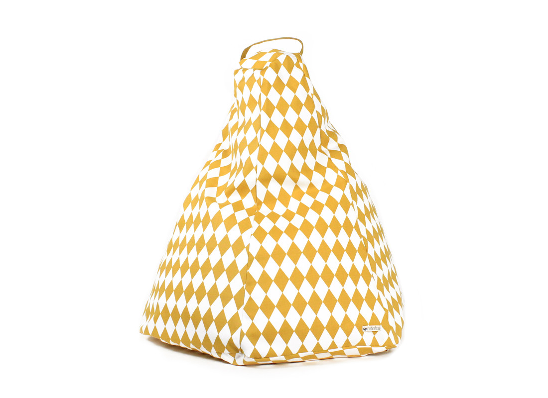 Puf Marrakech 54x62x64 rombos miel
