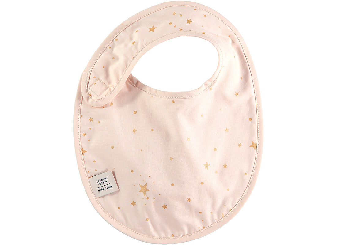 Babero Candy 34x26 gold stella/ dream pink